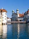 Cityscape of Luzern Royalty Free Stock Images