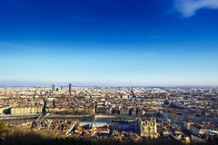 Cityscape of Lyon, France Stock Image