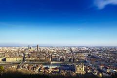 Cityscape of Lyon, France Stock Image