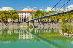 Cityscape of Lyon, France with reflections in the water Stock Images