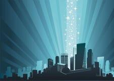 Cityscape & magic phenomenon Stock Image