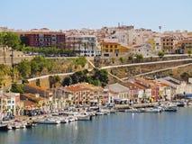 Cityscape of Mahon on Minorca Stock Photo