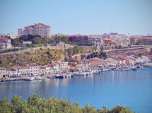 Cityscape of Mahon on Minorca Stock Images
