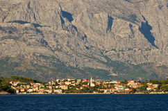 Cityscape of Makarska, Croatia Stock Images