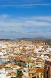Cityscape of Malaga Stock Images
