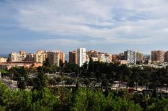 Cityscape of Malaga Stock Photography