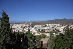 Cityscape - Malaga, Spain Royalty Free Stock Photo
