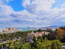 Cityscape of Malaga, Spain Royalty Free Stock Photos