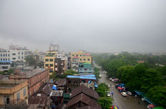 Cityscape of Mandalay city while rainning time in Mandalay, Myanmar Royalty Free Stock Image