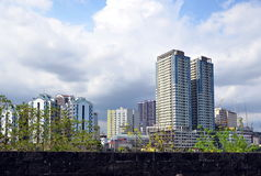 Cityscape of Manila Stock Photography