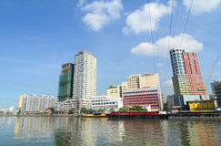 Cityscape of Manila, Philippines Royalty Free Stock Images
