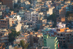 Cityscape of many buildings of Kathmandu, Nepal Royalty Free Stock Photos