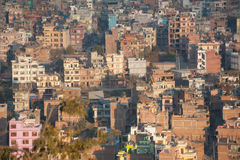 Cityscape of many buildings of Kathmandu, Nepal Stock Photo