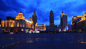 Cityscape of Manzhouli. The night scene of Manzhouli City which is in Sino-Russia frontier. Manzhouli is famous for frontier trade in China royalty free stock photos
