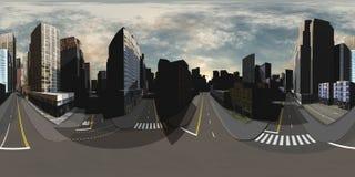 cityscape mappa dell'ambiente Mappa di HDRI Fotografia Stock Libera da Diritti