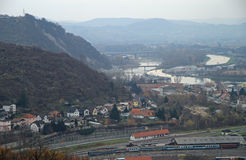 Cityscape of Maribor, view from Piramida hill Stock Image
