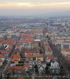 Cityscape of Maribor, view from Piramida hill Royalty Free Stock Images