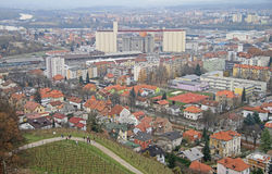 Cityscape of Maribor, view from Piramida hill Stock Images