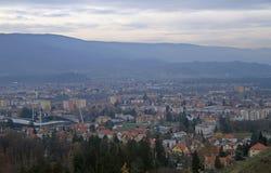 Cityscape of Maribor, view from Piramida hill Stock Photos