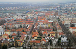 Cityscape of Maribor, view from Piramida hill Stock Photography