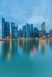 Cityscape at Marina Bay Business District twilight Singapore Stock Photography