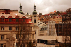 Cityscape with Mary Magdalene church(Karlovy Vary) Stock Photo