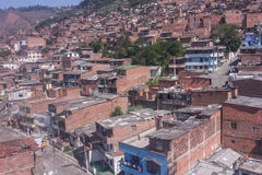 Cityscape of Medellin city, in Antioquia region, Colombia. Royalty Free Stock Image