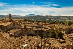 Gubbio, Italy. View of old city Stock Photos