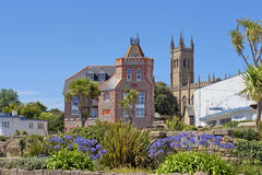 Cityscape in the medieval town Penzance, Cornwall, England Royalty Free Stock Photos