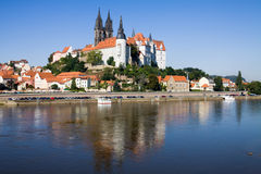 Cityscape of Meissen in Germany Stock Photos