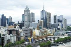 Cityscape Melbourne royaltyfri bild