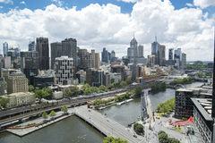 Cityscape Melbourne stock images