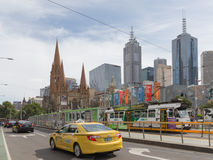 Cityscape of Melbourne, Australia Stock Photo