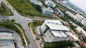 Cityscape mening bij cyberjayastad, Royalty-vrije Stock Afbeeldingen