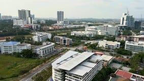 Cityscape mening bij cyberjayastad, royalty-vrije stock foto