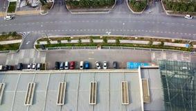 Cityscape mening bij cyberjayastad, Stock Afbeeldingen
