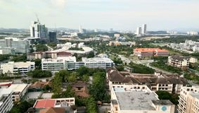 Cityscape mening bij cyberjayastad, royalty-vrije stock fotografie