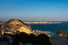 Cityscape mening over Alicante in Spanje, Europa royalty-vrije stock afbeeldingen