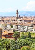 Cityscape mening van de stad Italië van Florence of van Florence royalty-vrije stock foto's