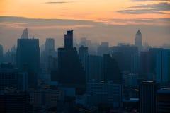 Cityscape mening van de stad van Bangkok, Thailand Royalty-vrije Stock Afbeeldingen