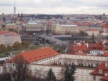 Cityscape mening van Praag Stock Afbeeldingen