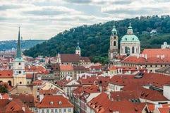 Cityscape mening van Praag Stock Fotografie