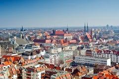 Cityscape mening van Wroclaw royalty-vrije stock fotografie