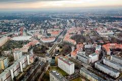 Cityscape mening van Wroclaw stock afbeeldingen