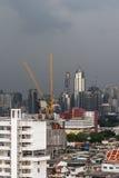 Cityscape met het inbouwen van stad van Bangkok Royalty-vrije Stock Afbeelding