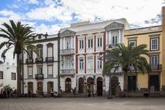 Cityscape met huizen in Las Palmas, Gran Canaria, Spanje Royalty-vrije Stock Foto's