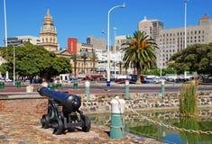 Cityscape met Stadhuis van Cape Town, Zuid-Afrika Royalty-vrije Stock Foto