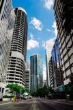 Cityscape met wolkenkrabbers Stock Foto's