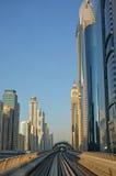 Cityscape, Metro, Dubai Stock Images