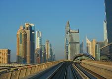 Cityscape, Metro, Dubai Royalty Free Stock Photos